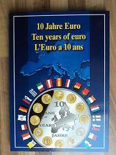 """Münz-Sammelbuch """"10 Jahre Euro"""" für 20 Münzen a 40mm Durchmesser, LEER!"""