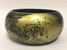Stunning Allusions @ Bhs Wooden Chunky Bangle With Gold Painted All Over