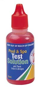 pH test solution no 2 water testing kit 30mL refill reagent