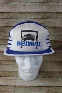 Vintage Benwil Automotive Lifts Snapback 3 Stripe Mesh Trucker Hat Cap