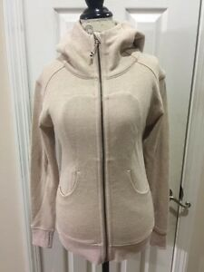 NWOT! Women's Lululemon Beige Cream Tan Jacket Size Fitness Running Yoga NEW!