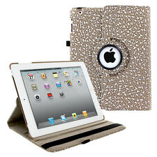 360 PU Leather Rotating Folio Foldable Case Cover Floral For Apple iPad 2 3 4