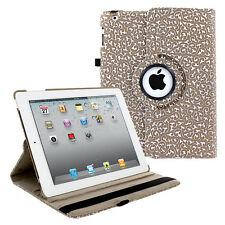 360 PU Leather Rotating Folio Foldable Case Cover Floral For Apple iPad 2 3 4