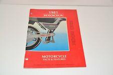 Vintage 1981 Honda Motorcycle Facts & Features Redbook Manual Motocross ATC CBX