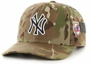 NEW YORK YANKEES HAT SALUTE TO SERVICE MLB BASEBALL ADJUSTABLE CAMO MVP CAP NEW