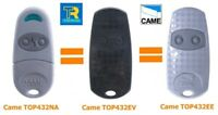 CAME-TOP432NA-EE-EV 2 Choose Either Grey or Black Gate Fobs 433.92MHz UK Stock .