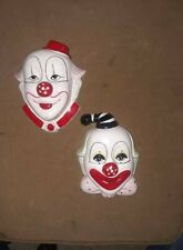 LOT OF 2 CLOWN MASKS