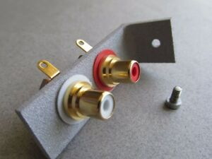Pats Audio RCA Phono Cable Connection Bracket Upgrade for Dual Turntables