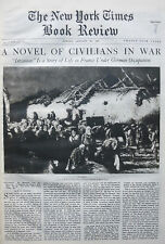 INVASION FRANCE - VAN DER MEERSCH KERR EBY 1937 January 24 NY Times Book Review