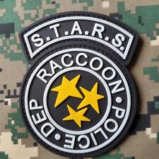 S.T.A.R.S. RACCOON POLICE DEP. 3D MORALE PVC RUBBER HOOK PATCH GLOW IN DARK *01