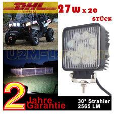 20x 27w LED Zusatzscheinwerfer Scheinwerfer Leuchten Offroad SUV LED work light