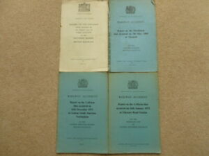 4 RAILWAY ACCIDENT REPORTS 1952-1972 WITH MAPS