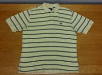 CHAPS 100% Cotton Striped Business Casual or Golf Polo Shirt Size L Men's Large