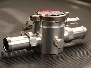 19mm Inline Filler Neck Cap Coolant Water Tank Header Alloy Universal Kit Car