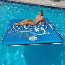Water Mat Large 6' x 6' Inflatable Pool Float Raft Island Walkway Connect Lake