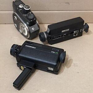 Job Lot 3x Cine Film Cameras - Quarz M, Hanimex 319, Eumig Mini