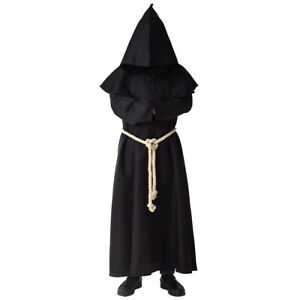 Medieval Monk Robe Hooded Monk Cowl Renaisance Cape Priest Robe Cosplay Costume