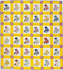 SUNBONNET SUE'S GARDEN  SCRAP, APPLIQUE & BLOCK VINTAGE QUILT PATTERN