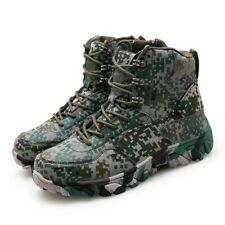 Men Suede High Top Lace up Boots Military Tactical Combat Army Ankle Boots Shoes