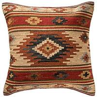Fair Trade Kashi Kilim Cushion Covers Handwoven Wool/Cotton Sofa Decor
