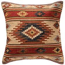 Fair Trade Kashi Kilim Cushion Covers Handwoven Wool/Cotton Sofa Decor