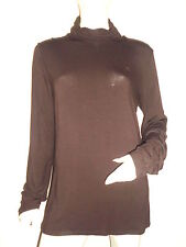 LONG AMPLE SWEAT FEMME RIVER WOODS CHOCOLAT LOGO BRODER COL HAUT MONTANT T:44/46
