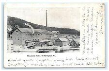Mountain Mills Wilmington Vermont VT UDB Postcard 1907 White Creek Windham Co.