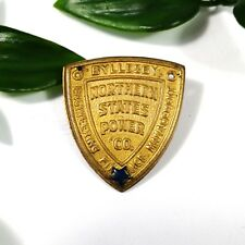 """Vintage Bylleshy Northern States Power Co. Service Metal Badge Pin 1"""" (GREAT)"""