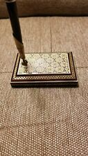 Persian Handcrafted Wooden Inlaid Khatam Marquetry Pen Holder