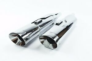Monster  Slip-On Mufflers Harley Davidson Oval Exhaust Pipes Touring Glide