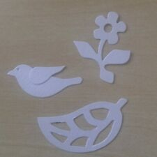 Sizzix medium die Bird, Flower and Leaf