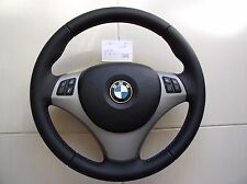 2 BMW M SPORT TECH 1/3/X E82/E87/E90/92/84 NAPPA LEATHER STEERING WHEEL w/AIRBAG