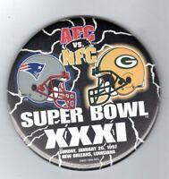 SPORTS (1997) PIN: Super Bowl XXXI NE Patriots - Green Bay Packers
