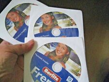 3 CD Set BERLITZ FRENCH PREMIER Mac Windows PC Excellent Condition!