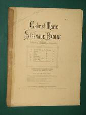 Partitions Violon, et Violoncelle acc. Piano Sérénade Badine Op 50 GABRIEL-MARIE