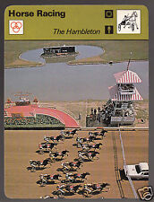 THE HAMBLETON Harness Horse Racing Event Track 1978 SPORTSCASTER CARD 19-22