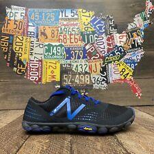 Used New Balance Minimus Barefoot running shoes MT00BK black/blue Men's 7.5 D