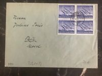 1944 Bonn Germany Cover Complete Block Stamp #884
