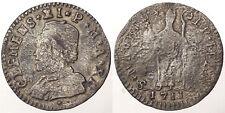 MURAIOLA DA 2 BAIOCCHI 1711 CLEMENTE XI 1700-1721 STATO PONTIFICIO ARGENTO #7255