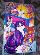 Vintage Lisa Frank Pencil Pouch Kittens Cats Binder Holes 90s Zip Up Rare Purple