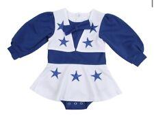 Girls Toddler Dallas Cowboys Cheerleader White/Royal Blue Cheer Uniform Sz 2T
