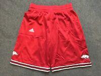 Men's Vintage Adidas Big Red Arkansas Basketball Shorts Medium M Red