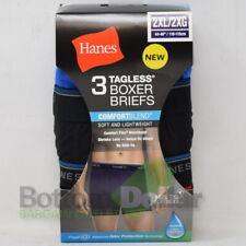 Hanes Men's 3 Pack FreshIQ Tagless Lightweight ComfortBlend Boxer Brief (2XL)