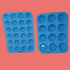 Silicone Muffin & Cupcake Pan Baking Molds Set Easy to clean! ~ Usa Shipper