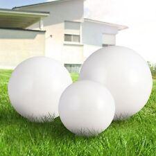 3er Set LED Steck Leuchten Solar Kugeln weiß Garten Deko Beleuchtung Außen Licht