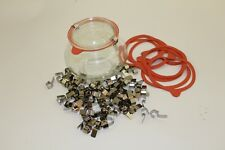 Weck Canning Jar products: rubber gaskets/rings stainless clips/clamps sets
