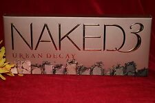URBAN DECAY NAKED 3 EYESHADOW EYE SHADOW PALETTE BRUSH 12 SHADES BOXED AUTHENTIC