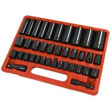 38 piezas Juego de llaves vaso Llano & Oscuro Varios 1.3cm & 1cm Adaptadores SAE