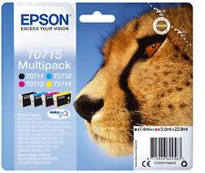 Epson T0715 Black, Yellow, Cyan, Magenta Ink Cartridge