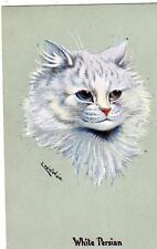 White Persian Cat Louis Wain unused old pc Prize Winners Series 536 A M Davis